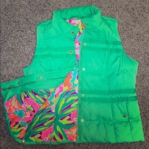 Lilly Pulitzer puffy vest XL EUC